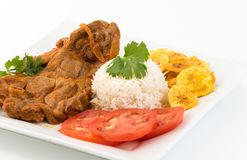 Cuban Cuisine: Stewed Lamb Dish Royalty Free Stock Photos