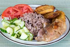Cuban Cuisine: Traditional Creole Meal Stock Photos