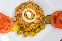 Cuban cuisine traditional creole yellow rice Stock Photos