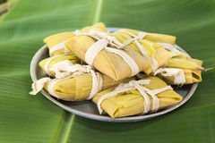 Cuban cuisine: traditional homemade tamales Stock Image