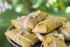 Cuban cuisine: traditional homemade tamales Stock Photography