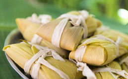 Cuban cuisine: traditional homemade tamales Stock Photos