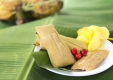 Cuban cuisine: traditional homemade tamales Stock Images
