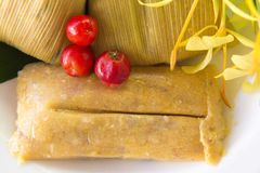 Cuban cuisine: traditional homemade tamales Royalty Free Stock Images
