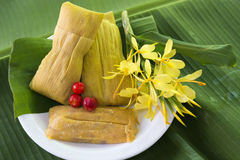Cuban cuisine: traditional homemade tamales Royalty Free Stock Photos