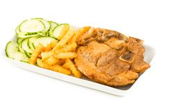 Cuban Cuisine: Traditional Pork Chops Stock Images