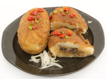 Cuban cuisine: traditional stuffed potatoes Royalty Free Stock Image