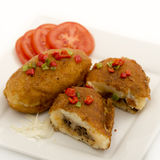 Cuban cuisine: traditional stuffed potatoes Royalty Free Stock Photo