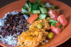 Cuban Cuisine: Typical Dish Royalty Free Stock Photography