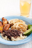 Cuban Dinner with Iced Tea Stock Photo