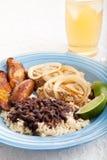 Cuban Dinner with Iced Tea Stock Photo
