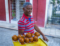 A Cuban donuts seller Royalty Free Stock Photography