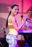 Cuban female singer Royalty Free Stock Images