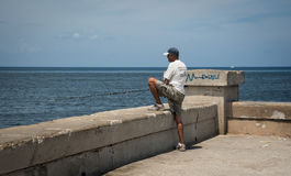 Cuban fisherman Royalty Free Stock Photo