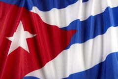 Cuban Flag. Close up of colorful, wavy Cuban flag Royalty Free Stock Image