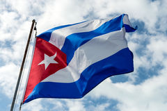 Cuban Flag. Photo of Cuban Flag in the wind Stock Photography