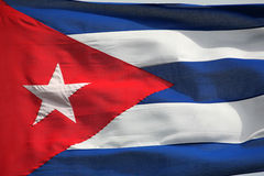 Cuban Flag. Cuban national flag full frame texture Royalty Free Stock Image