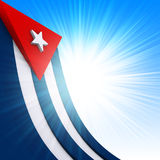 Cuban Flag. The Cuban flag on abstract glow background Royalty Free Stock Photography
