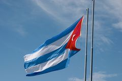 Cuban flag. The flag of Cuba royalty free stock image
