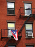 Cuban flag on building Royalty Free Stock Photography