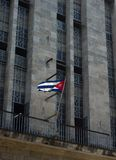 Cuban flag on a building. At Havana city, Republic of Cuba Stock Images