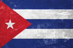 Cuban Flag. Cuba - Cuban Flag on Old Grunge Texture Background Royalty Free Stock Photos