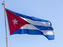 Cuban flag Stock Photo