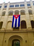 Cuban Flag hangs at the Museum of the Revolution Stock Photo