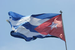 Cuban Flag waving Stock Photos