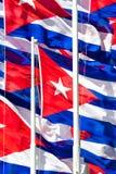 Cuban flags Stock Image