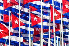Cuban flags Royalty Free Stock Photo