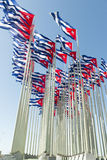 Cuban flags Royalty Free Stock Image