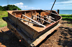 Cuban Ghug. Beached refugee boat in the Florida Keys royalty free stock image