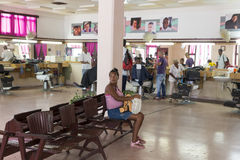 Cuban Hairdresser Royalty Free Stock Images