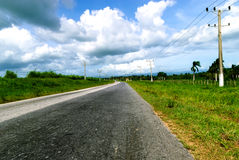 Cuban highway Royalty Free Stock Photo