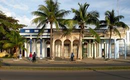 Cuban Housing. Housing Quadriplex in Cienfuegos, Cuba Stock Photo