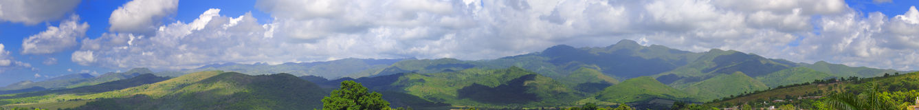 Cuban landscape panorama Royalty Free Stock Photo