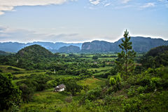 Cuban landscapes. The country, mountains and hills in Cuba Royalty Free Stock Image