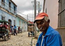Cuban local man smoking cigar Royalty Free Stock Photos