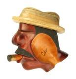 Cuban man ash-tray Stock Photography