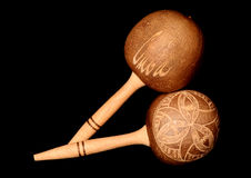 Cuban maraca musical shakers Stock Photography