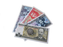 Cuban money isolated on white background Royalty Free Stock Images