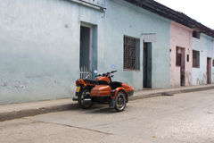 Cuban motorbike Stock Photo