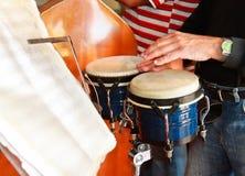Cuban musician playing pongo drum. Trinidad , Cuba Royalty Free Stock Image