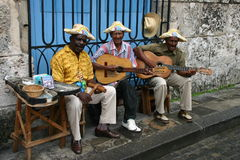 Cuban musicians Stock Images