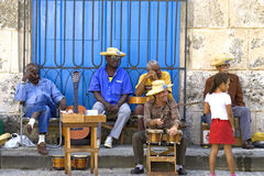 Cuban musicians Stock Photo
