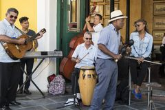 Cuban musicians in Havana, Cuba Royalty Free Stock Photos