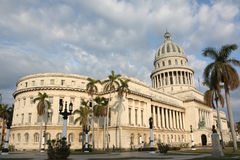 Cuban Natinal Capitol, general view. Early in the morning Royalty Free Stock Photography