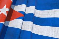 Cuban National Flag 3D Royalty Free Stock Photos