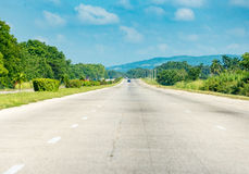 Cuban National Highway to Havana City Stock Images